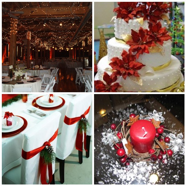 Red should be one of your colors for your Christmas wedding